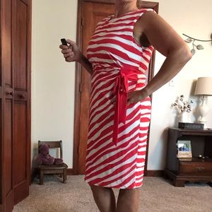 Dress Barn orange Zebra